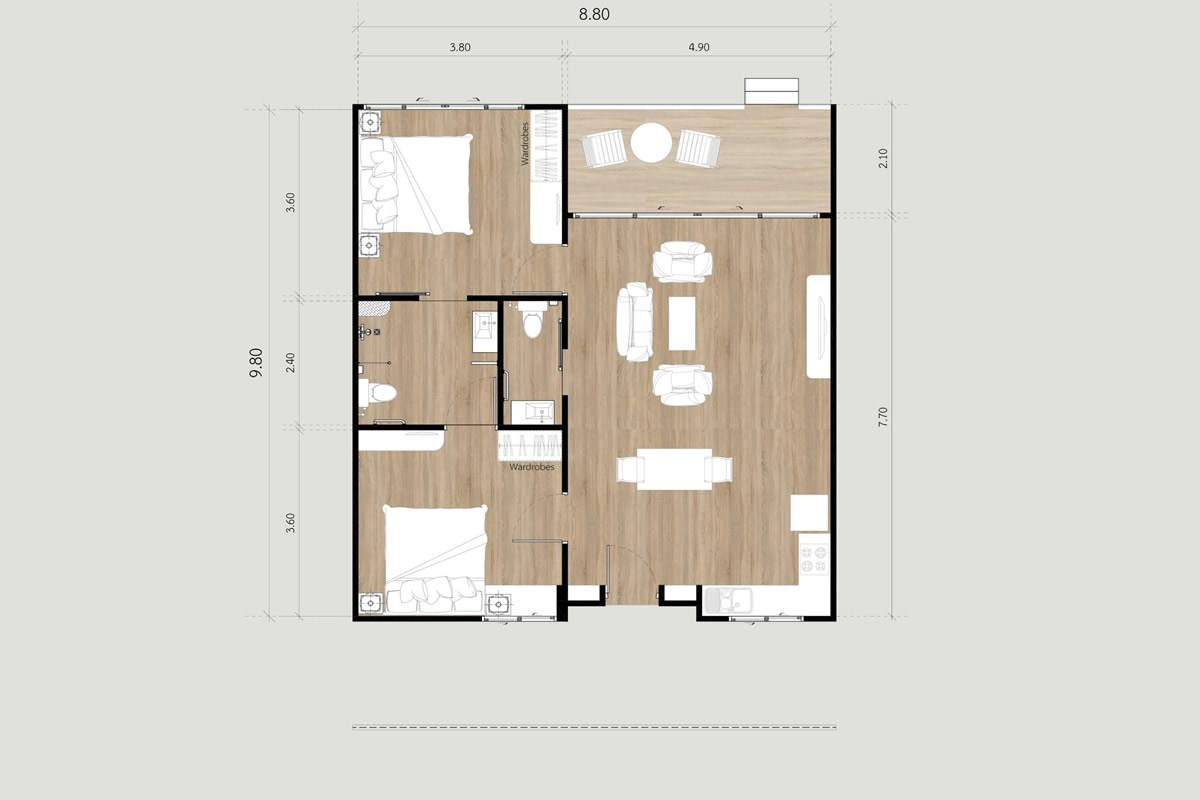 Terrace Houses A-08 - House - Bang Saray - Eastern Seaboard