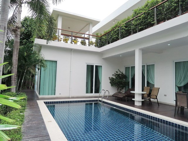 36180152bc6 House for Sale Silverlake Pattaya showing the house pool and rooftop Sala